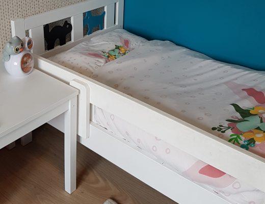 kinderbed groot bed ledikant overgang peuter dreumes slaapkamer kinderkamer