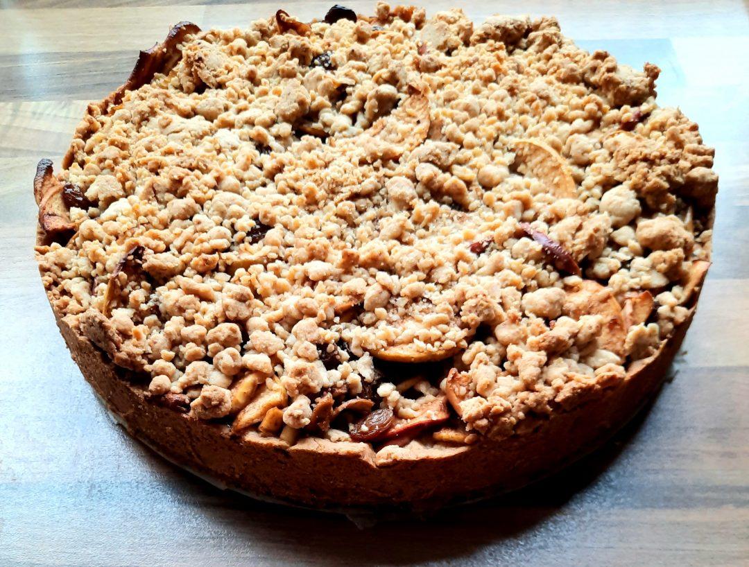 appeltaart taart glutenvrij lactosevrij geen geraffineerde suikers PCOS proof