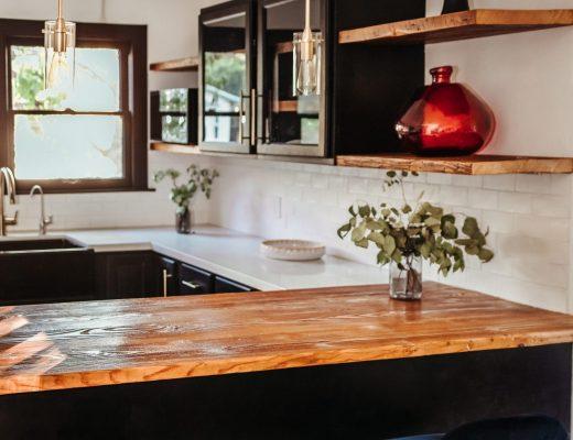 keuken droomkeuken klussen handgrepen doe het zelf DIY hout zwart schilderen